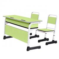 China China school classroom desk and chair two-seater study table and chair set on sale