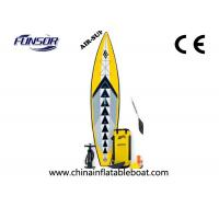 Wholesale Portable Inflatable Racing Touring board For Single Person 3 x 0.72m yellow color from china suppliers