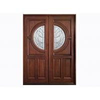 Wholesale Glazed 50mm Custom Timber Doors , Solid Wood / MDF Door Leaf from china suppliers