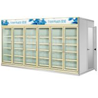 Wholesale Multi Deck Dairy Glass Door Freezer Back Load Beverage Cooler Cooling Room from china suppliers