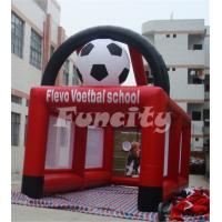 Wholesale Customized Logo Inflatable Soccer Goal , Inflatable Soccer Games 6ML*3MW Size from china suppliers