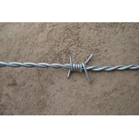 Wholesale Four Barbs Electric Zinc Barbed Wire Double Strand With 2.1mm Diameter from china suppliers