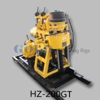 Wholesale 180m depth 76mm diameter portable water Drilling Rig HZ-200GT from china suppliers