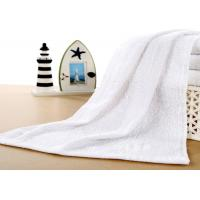 Quality Plain Style White Hotel Towels , Hotel Collection Microcotton Towels 35x75cm for sale