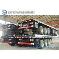 Wholesale 3 Axles 40 Feet Container Flatbed Semi Trailer , Load 50 Ton from china suppliers
