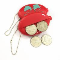 Quality Promotional Coin Holder Keychain PVC Coin Purse Logo Customized for sale