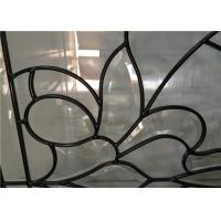 Quality Classical Color Door Art Glass Panels Thermal Sound Insulation Various Shape for sale