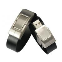 Wholesale Brown Leather Wristband USB Drive , 1GB - 64GB USB Memory Stick from china suppliers