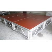 Wholesale Red 3 - Level Plywood Aluminum Stage Platform With Anti - Slip Board from china suppliers