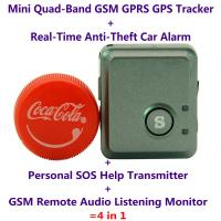 Wholesale Mini GPS Tracker V8S+Anti-Burglar Alarm+Personal SOS Help Transmitter+Spy GSM Audio Bug from china suppliers