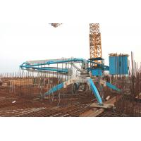 Wholesale HGY Professional Spider Concrete Placing Boom Truck Mounted Blue Color from china suppliers
