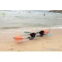 2016 hot sale 3.33 meters polycarbonate clear canoes with double seats