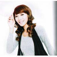 Wholesale Lovely Brown Synthetic Short Lady Curly Asian Hair Wigs from china suppliers