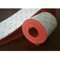 Wholesale High Qaulity  Dark Red Silicone Sponge Rubber Sheet With 3M Adhesive Backed from china suppliers