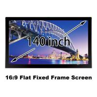 Wholesale 3D 140 Inch Front Flat Projection Screen HDTV Format Fixed Frame from china suppliers