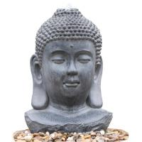 Wholesale Decorative Buddha Statue Water Fountain / Fiberglass Resin Buddha Garden Water Feature from china suppliers
