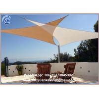 Wholesale Sun Shade Sail 16.5' foot Triangle Shading Canopy Green Breathable Mesh from china suppliers
