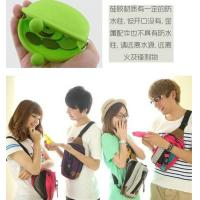 Wholesale Eco-friendly Green Silicone Coin Purse With Custom LOGO, Zip / Kiss Lock 90 * 72 * 40mm from china suppliers