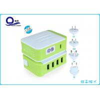 Wholesale 5V 4.8A Multiport USB Travel Wall Charger With 4 USB Port And LED Light Display from china suppliers