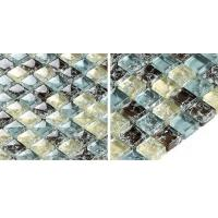 Wholesale Multicolor Bathroom Sink Backsplash Tile , Crystal Plated Bathroom Mosaic Tile Backsplash from china suppliers