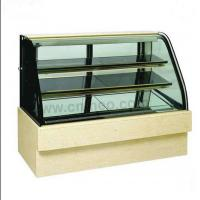 Quality LED Lights Wood Display Cabinets , Butter Icecream Glass Display Cabinet for sale