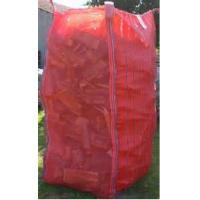 Wholesale Tall Red Firewood Ventilated Mesh FIBC Bulk Bag With Corner Loops 2202 Lbs from china suppliers