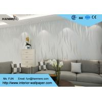 Wholesale Embossing , Flocking Modern Style Wallpaper with Silver Stripes Pattern 0.53 * 10M from china suppliers