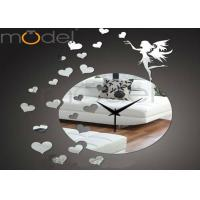 Wholesale DIY 3D Acrylic Mirror Wall Sticker Clock For Wedding Gift , Silent Movement from china suppliers