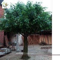 Wholesale UVG indoor and outdoor walkway decoration realistic banyan artificial tree sale 13ft high GRE053 from china suppliers