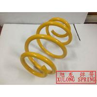 yellow powder coated Barrel Spring suspension coil spring