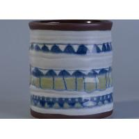 Wholesale Glossy glazing home decor Hand painted ceramic candle holders from china suppliers