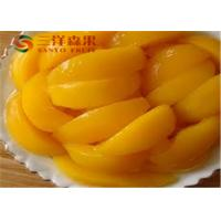 Wholesale Delicious Tropical Canned Fruit / Preserving Yellow Peaches Easy Open Lid from china suppliers