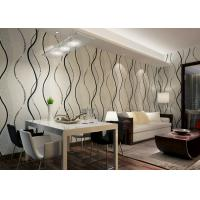 Wholesale Dining Room PVC Modern Removable Wallpaper With Black Wave Printing from china suppliers