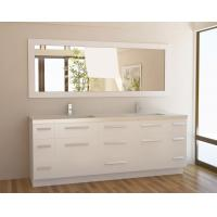 Buy cheap Matt White Pvc Finish Floor Standing Bathroom Vanity Cabinets For Guest Room from wholesalers