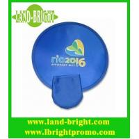 Wholesale 2013 customized foldable frisbee/fan with a pouch from china suppliers
