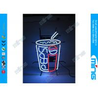 Wholesale Flashing Glass Pepsi Coffee Neon Sign Lamp Super Bright , CE UL Approval from china suppliers