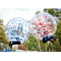 Buy cheap Colorful Dots 1.5m 1.0mm PVC Inflatable Zorb Football Bubble Soccer Ball With CE Pump from wholesalers