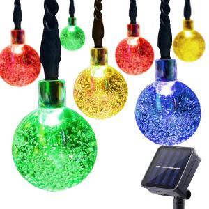 China Solar String Lights Outdoor, 30 LED Crystal Balls Waterproof Globe Solar Powered Fairy String Lights for Bedroom Garden on sale