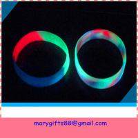 Buy cheap light in dark mixed color silicone wristband from wholesalers