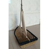 Wholesale Hot sale rattan basket, nice gift boat, rattan fruit baskets, snack baskets from china suppliers