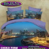 Wholesale Beautiful City River Queen King Bed Sheet Pillowcases 3D Quilt Cover Sets from china suppliers