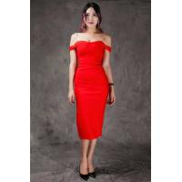 Wholesale Summer Bodycon Dresses Red , Mid Length Bodycon Dresses A - Line from china suppliers