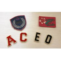 Wholesale Fancy Artcial Letter Embroidered Name Patches For Kid Garment Plain Back,Felt Material from china suppliers