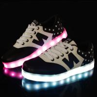 Wholesale Hot Sale New Design Flyknit Led Shoes with 7 led colors led shose from china suppliers