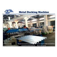 Wholesale PPGI Sheet Floor Deck Roll Forming Machine 22KW Main Power 0.8-1.6mm Thickness from china suppliers
