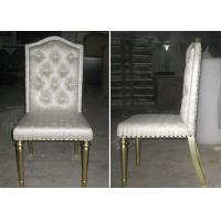 Wholesale OEM Hotel Gold Leaf Fabric Modern Dining Room Chairs With Button - Tufted from china suppliers