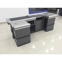 Wholesale Gray Conveyor Belt Checkout Counter for Supermarket Shop Automatic Retail from china suppliers