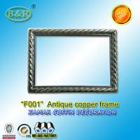 Wholesale Photo Frame In Zamak Model No. F001 Gold Old Gold Bronze size 12*16.5cm zamak name plate frame from china suppliers