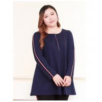 Wholesale Pullover Blouse Style Plus Size Ladies Shirts Figure Print Wrap Tunic Cotton Spandex from china suppliers