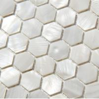 Wholesale Handmade Beautiful  Sea Shell Wall Mosaic Freshwater Sea Shell Mosaic Hexagon Shape 23.5mm from china suppliers